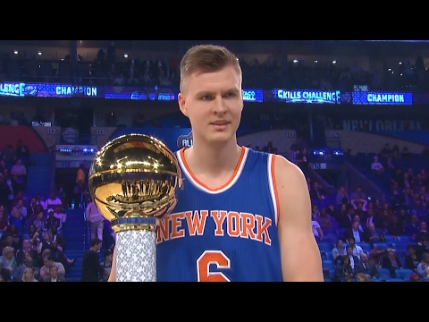NBA All-Star Skills Challenge 2017! Kristaps Porzingis Demi God Cheese!
