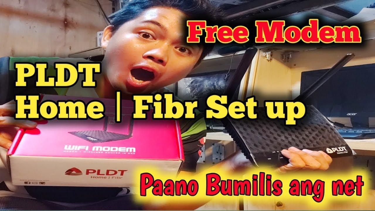 Paano mag Set up ng  PLDT Home Fibr / May Free Modem Pala si PLDT