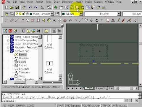 Cap tulo 07 dibujar muebles sanitarios y manejo de for Muebles 3d autocad