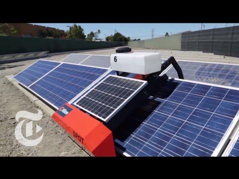 Pv Robot רובוט לניקוי פאנלים סולארים ניקוי גגות סולארים