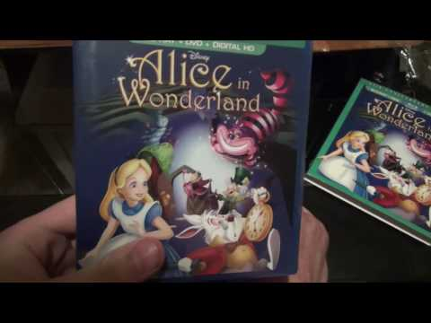 Alice In Wonderland 65th Anniversary Edition Blu-Ray Unboxing Disney Movie Club Exclusive