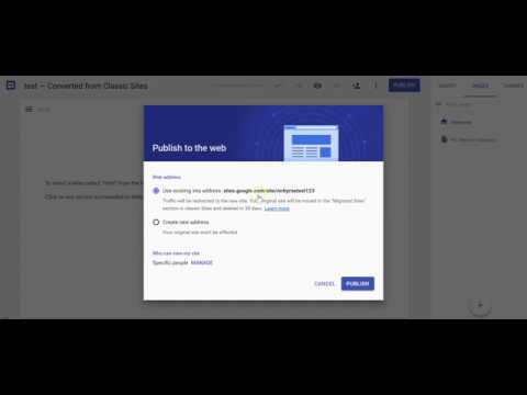 How to Convert Old Google Sites to New Google Sites