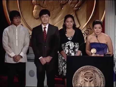 Kara Patria C. David - I-Witness: Ambulansiyang de Paa - 2009 Peabody Award Acceptance Speech