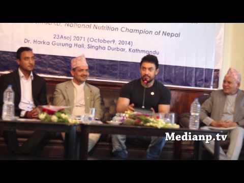 Aamir Khan's gives speech in Nepal