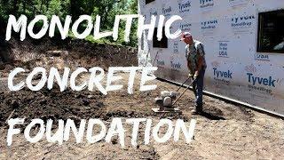 DIY Home Build: Monolithic Concrete Foundation Pt 1 Soil Prep (Addition)