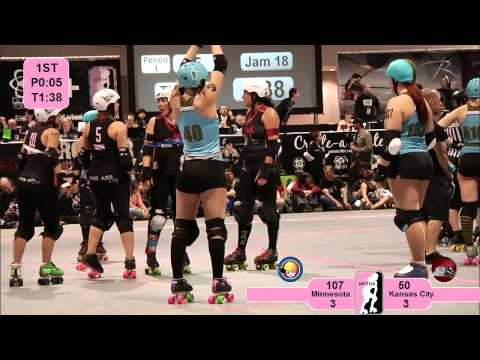 2012 WFTDA Championships: Minnesota RollerGirls v Kansas City Roller Warriors