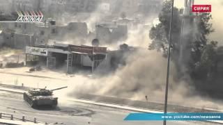 Уличные бои в Сирии. Наши дни. Видеокамеры на танках.