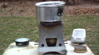 Emberlit Stove used with the Trangia burner - Boil Test #2