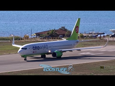 Tivat Airport LYTV/TIV Tower View - Oneworld S7 Airlines Boeing 737-800 Takeoff
