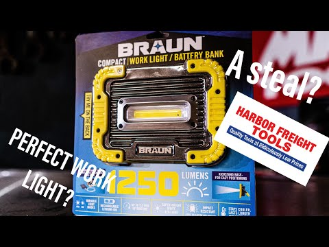 New Braun Work Light/Power Bank Review