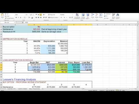 Lease-Buy Analysis on Spreadsheet - Pat Obi