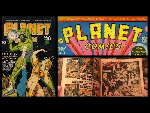 Planet Comics #36 Story and Page Count - Fiction House 1945