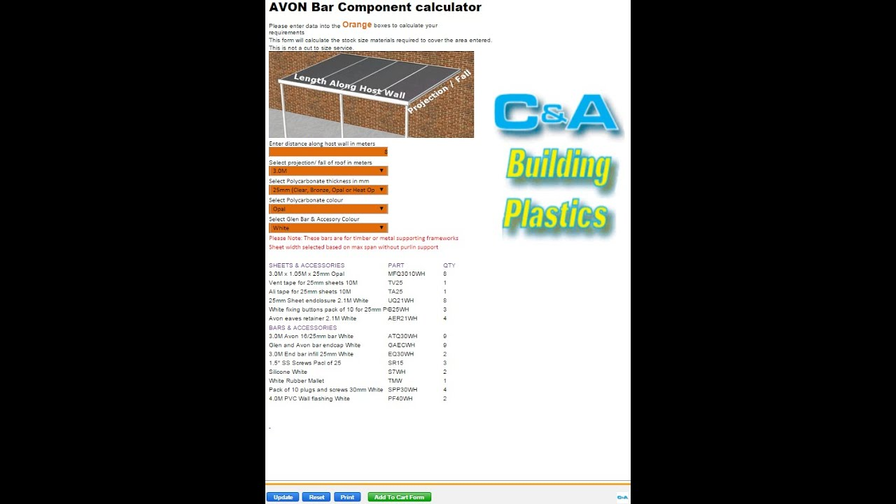 Required Materials Calculators