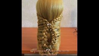 Прическа Анна.Плетение
