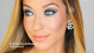 Blue Eyeshadow Makeup Tutorial with CHANEL Fall Winter 2018 Collection
