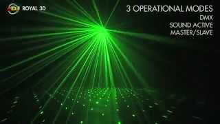 Video American DJ Royal 3D Blue and Green laser effect light download MP3, 3GP, MP4, WEBM, AVI, FLV Agustus 2018