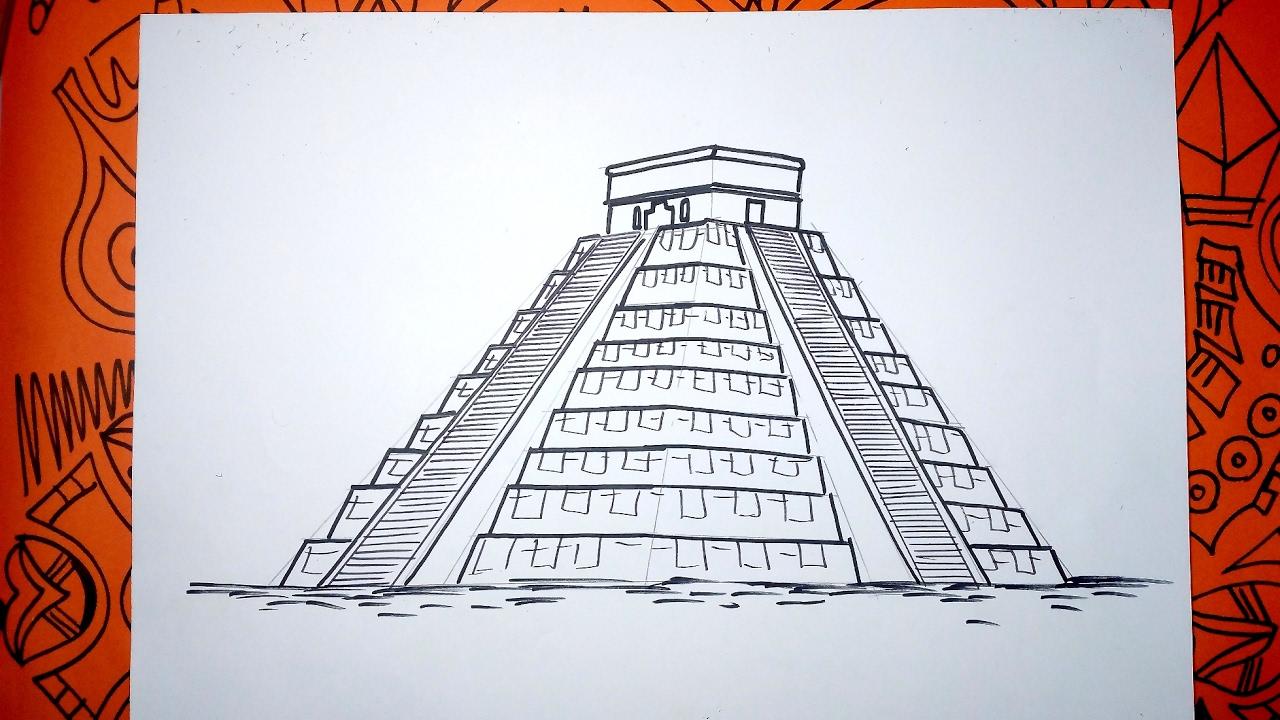Aprende A Dibujar La Piramide Maya Kukulkán En Chichen Itzá Youtube