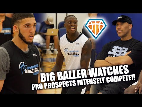 LAVAR BALL Watches INTENSE 3-ON-3 ACTION w/ LiAngelo Ball & Draft Prospects!! | PBC Highlights