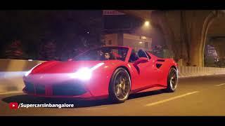 Power-sliding in Ferrari 488 Spider   HRE wheels   Bangalore