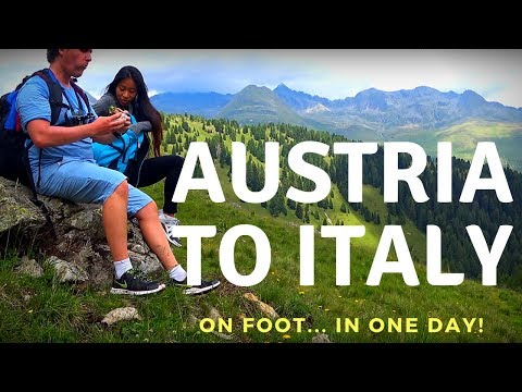 Walking from Austria to Italy (in 1 day) Tirol Tyrol Nature Hikes Trails