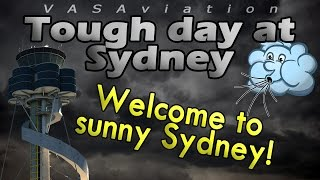 [REAL ATC] REALLY BAD WEATHER at Sydney Airport YSSY!!