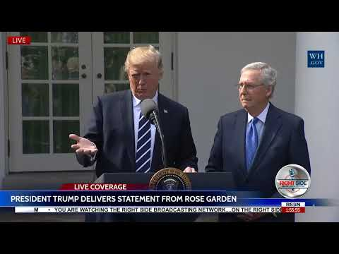 FULL Press Conference: President Trump and Senator Mitch McConnell 10/16/17