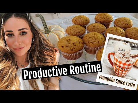 how-to-be-productive//pumpkin-muffins,-pumpkin-spice-latte-(dairy-free)