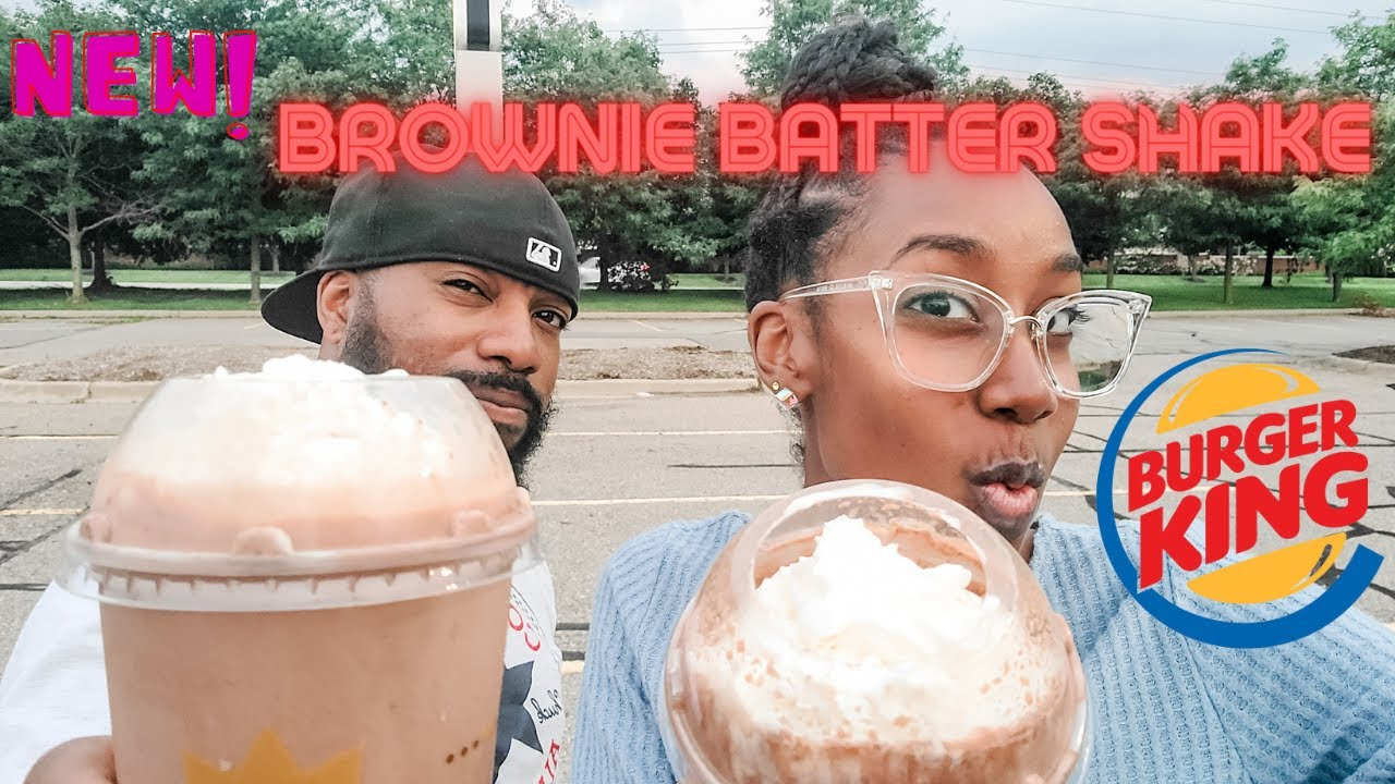 NEW Burger King Brownie Batter Shake   2021 Review & Taste Test