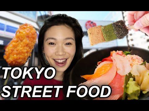 Eating JAPANESE STREET FOOD At Tokyo Tsukiji Fish Market 2019
