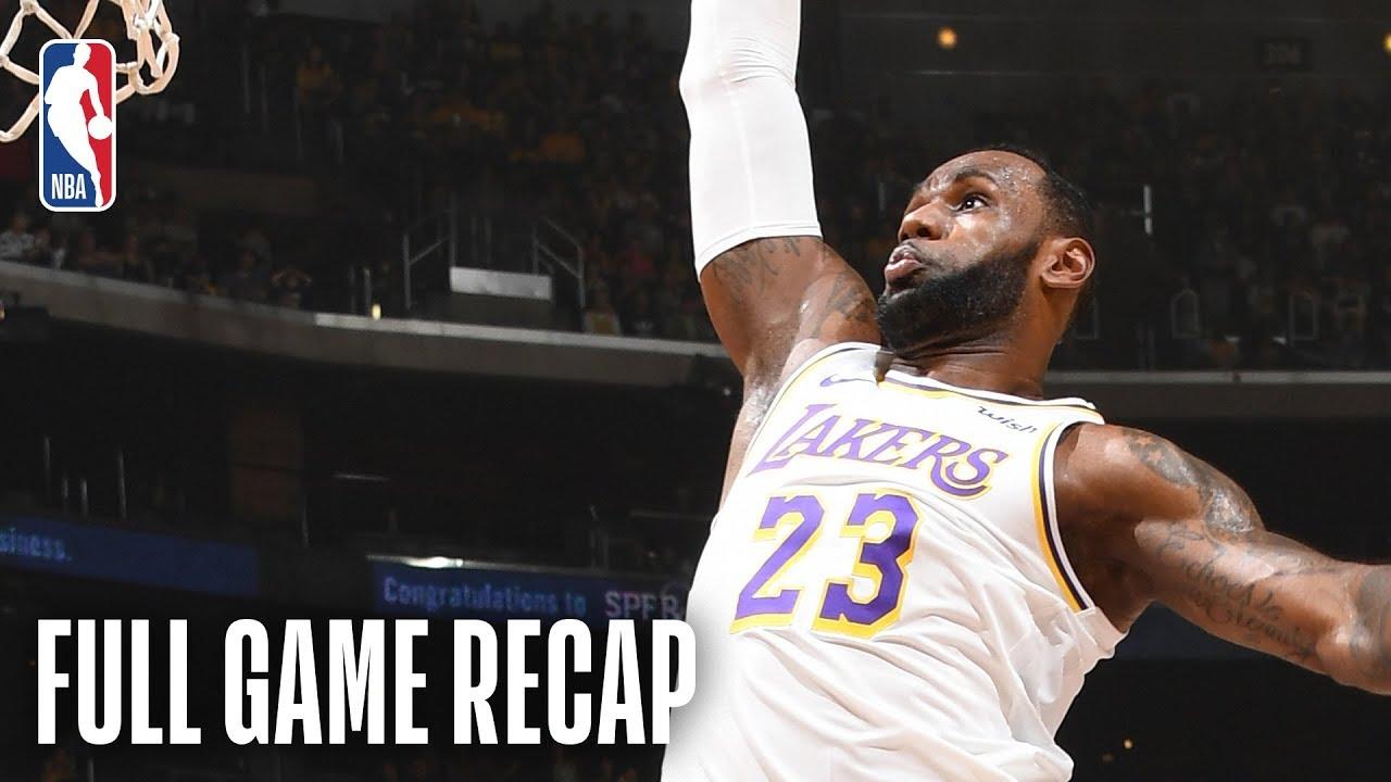 Kings vs Lakers | LeBron James Records Triple-Double | March 24, 2019