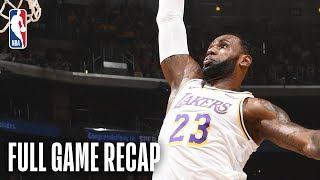Kings vs Lakers | LeBron James Records Triple-Double | March 24, 2019