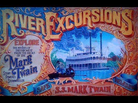 Mark Twain Riverboat at Disneyland Ride Along with Audio