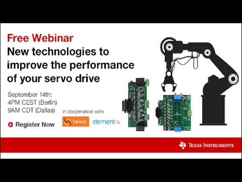 Webinar - New technologies to improve the performance of your servo drive