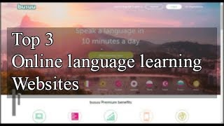 Top 3 Online Language learning Websites