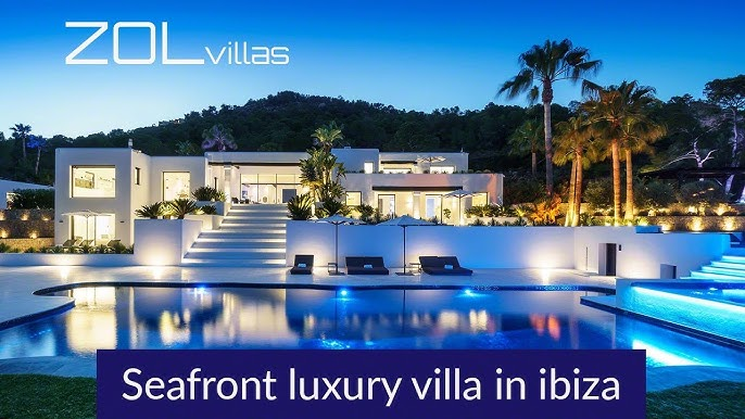 Luxury Seafront Villa With Private Access To The Sea In Es Cubells For Rent Luxury Villas Ibiza Youtube