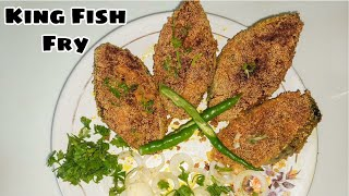 King Fish Fry | Fish Fry Recipe | Surmai Fish | Spicy Fried Fish | Liza's Kitchen