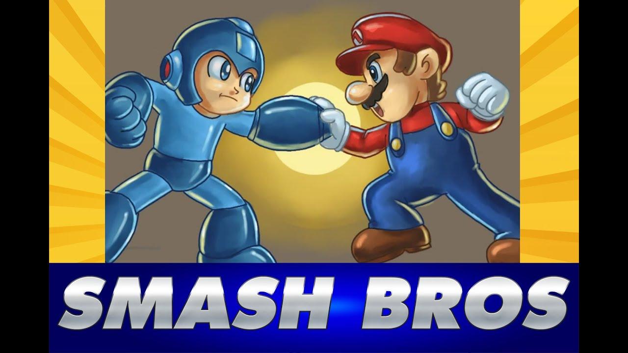 Cmo Dibujar MEGAMAN vs MARIO BROS de Super Smash Bros Wii U