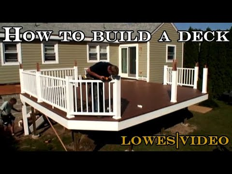 How to build a deck by yourself