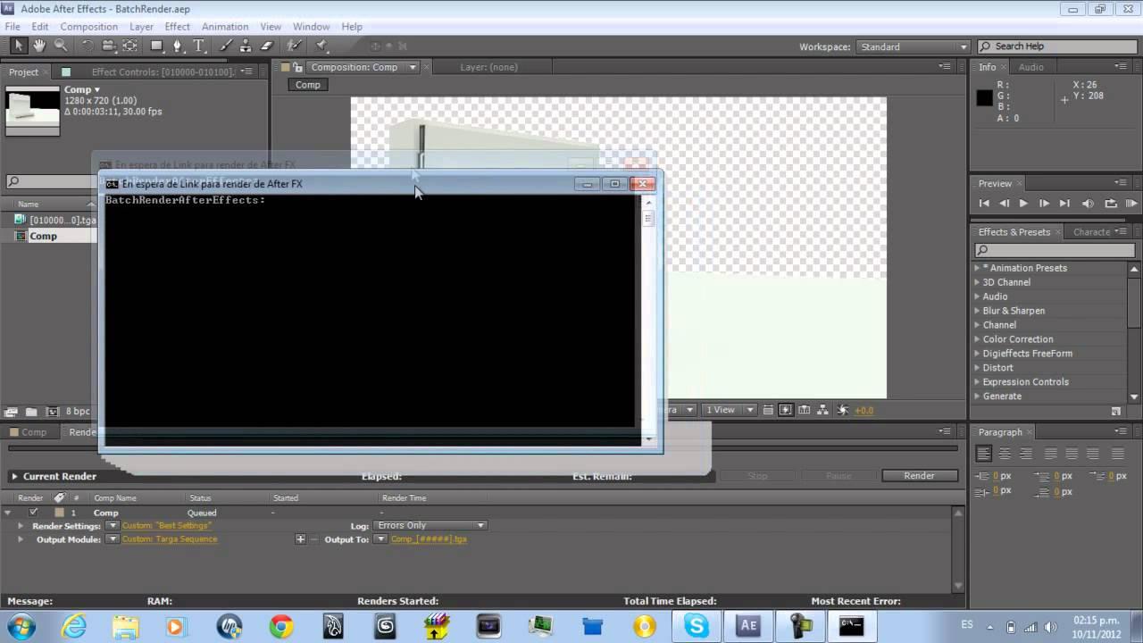 Tutorial Batch Render After Effects - Windows CMD