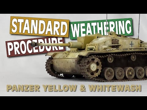 Standard Weathering Procedure - STUG F/8  (Full Weathering Tutorial)