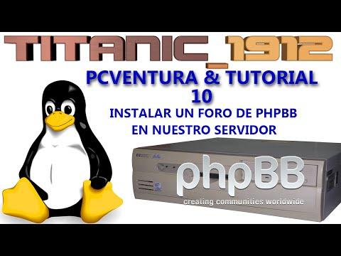 PCVENTURA & TUTORIAL | 10 INSTALAR UN FORO DE PHPBB | EN ESPAÑOL