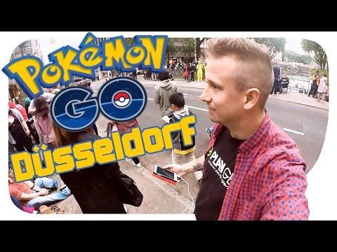 Pokémon Go Mega-Hype [HDDE] - Pokemon Farmen In Düsseldorf An Der Königsallee Brücke |