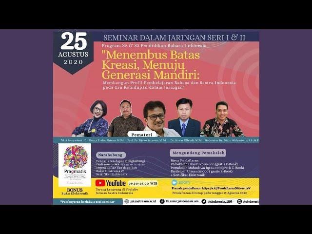 Jurusan Sastra Indonesia UM Live Stream