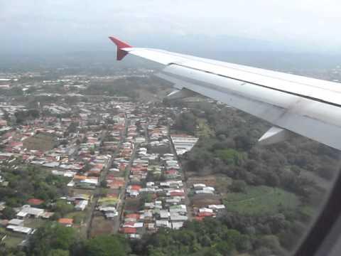ATERRIZAJE EN EL JUAN SANTAMARIA COSTA RICA