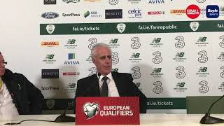 Mick McCarthy reacts to tennis ball protest, Ireland win and Hourihane goal