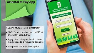 Obc mobile banking registration through ATM obc mpay Oriental bank of commerce obc bank mobile bank