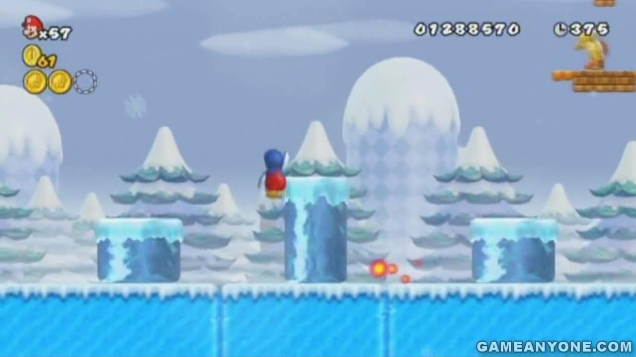 New Super Mario Bros  Wii Walkthrough - Part 30: World 3-4 Secret Exit [HD]