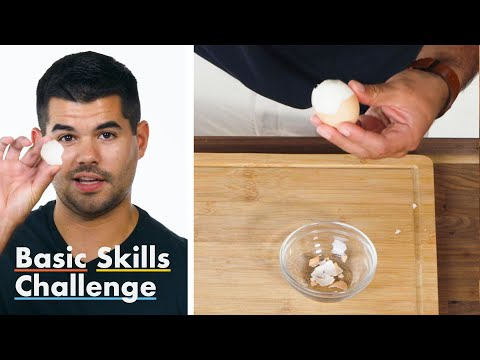 50 People Try to Peel a Hardboiled Egg | Epicurious