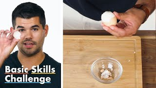 50 People Try to Peel an Egg | Epicurious