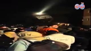 المشاهد الأولى لإنقلاب 3 عربات قطار أمام مركز ناصر بــ بنى سويف